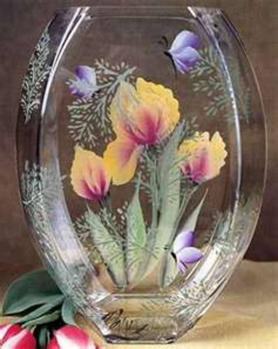 Hand painted glass crafts hubpages for Painted glass ornaments crafts