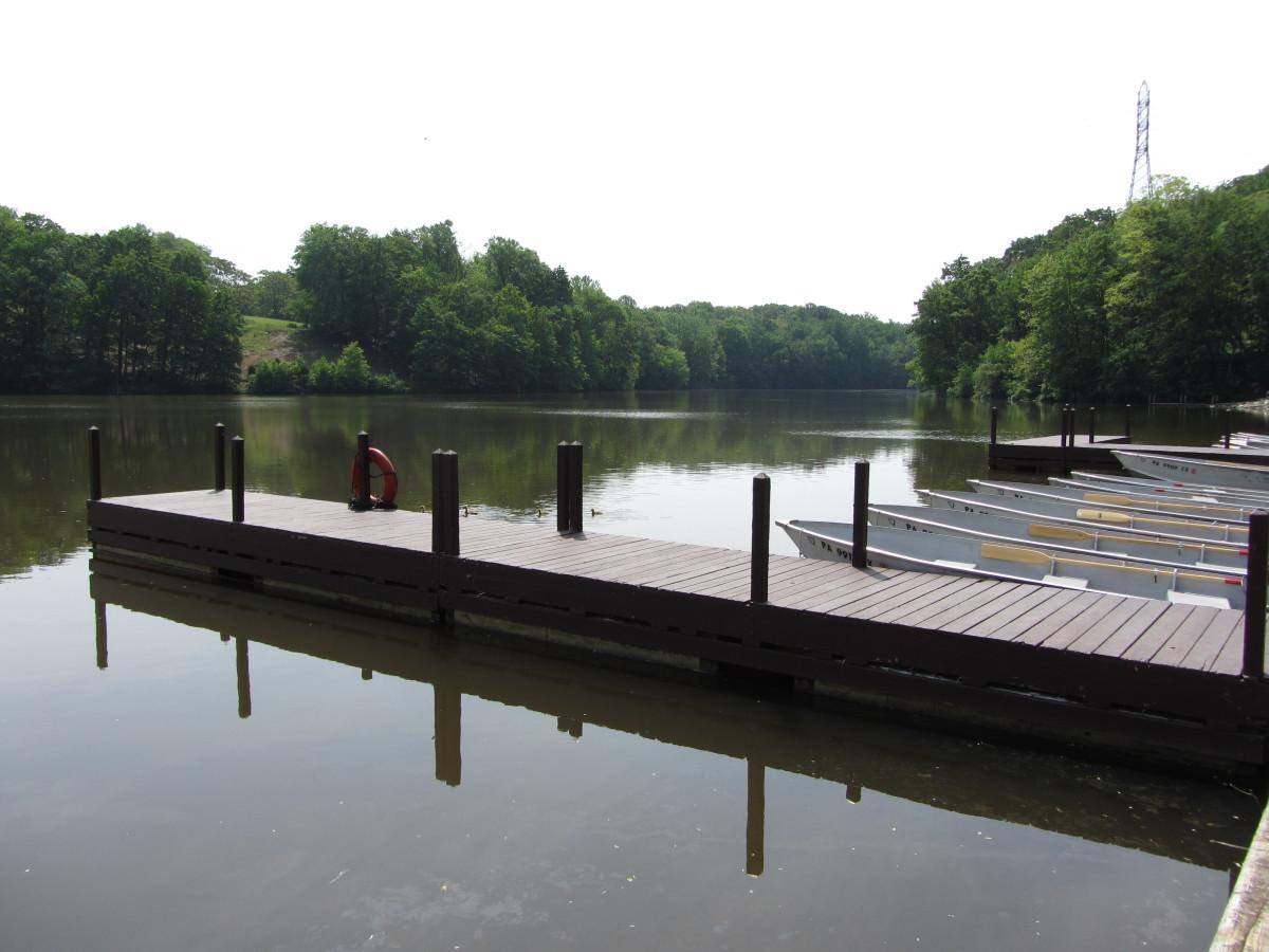 Boat rental dock at Muddy Run Park