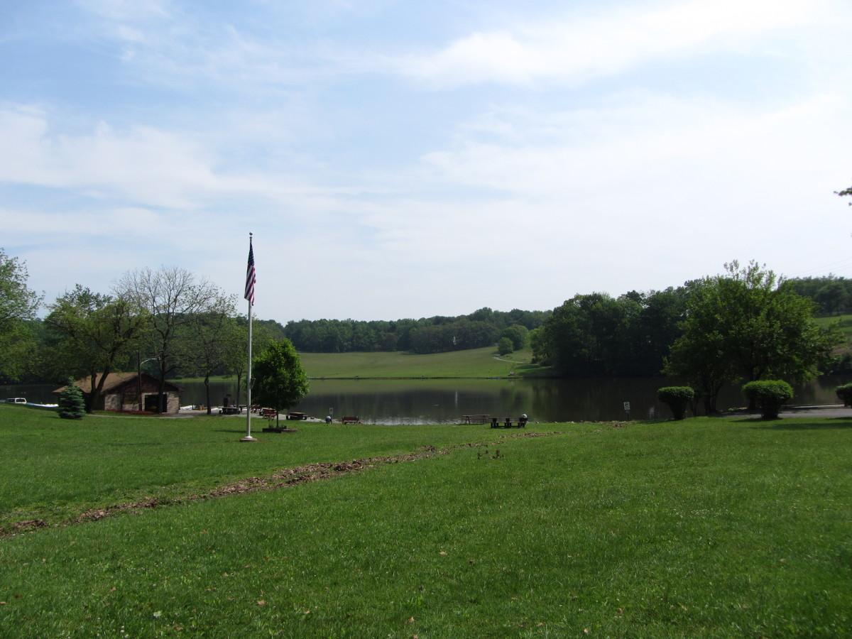 The lake at Muddy Run Park