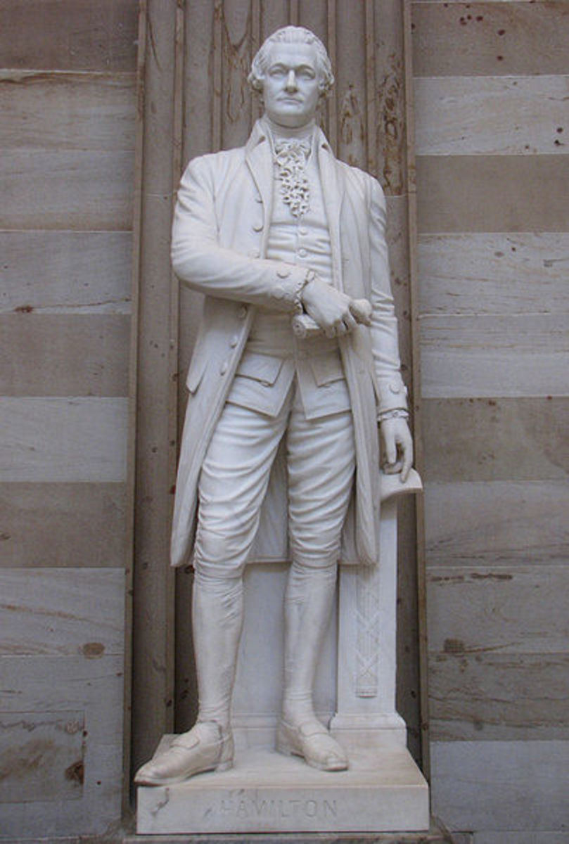 Statue of Alexander Hamilton at the US Capitol