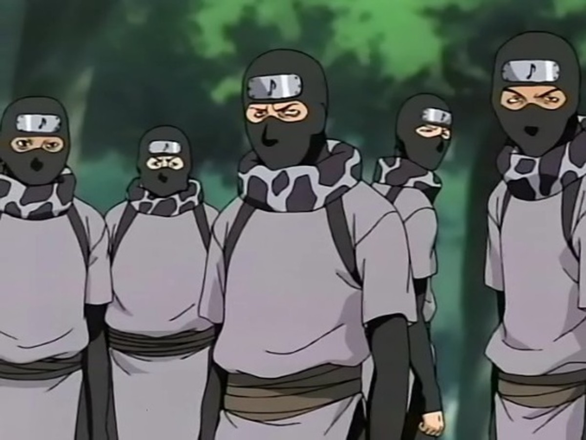 We wear masks because Orochimaru took off our faces in the last experiment...