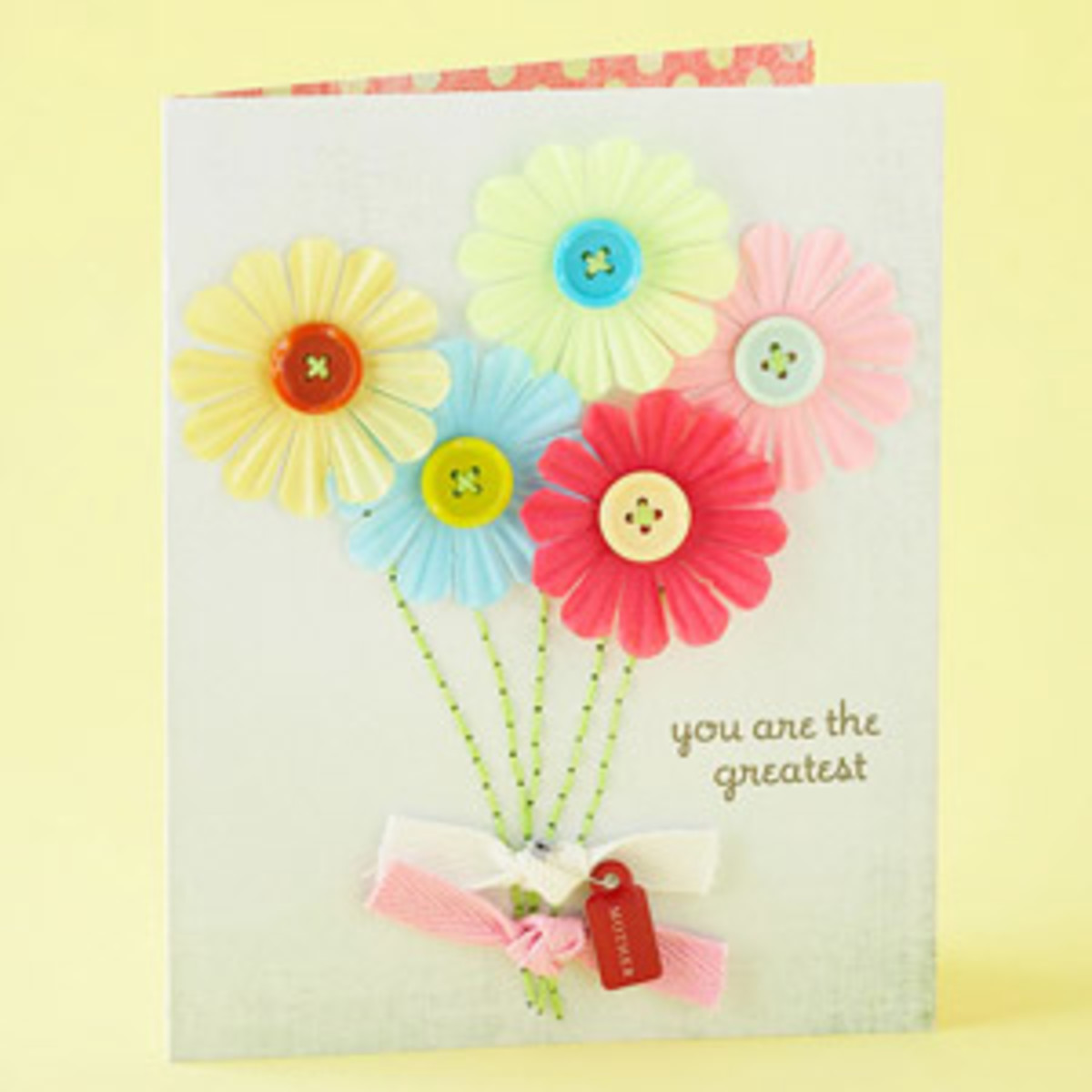 Button greeting cards part 2 14 more ideas for handmade homemade my first button greeting card m4hsunfo