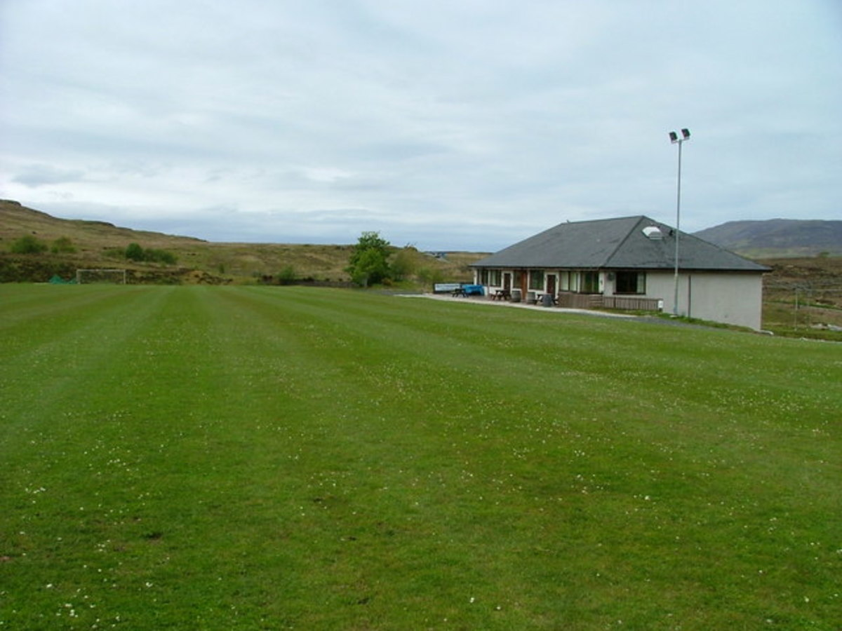 Camanachd grounds at Portree on the Isle of Skye