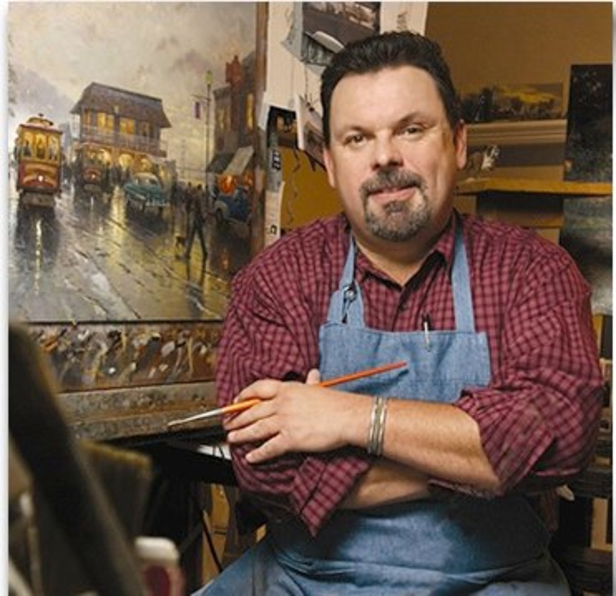 How to paint like Thomas Kinkade: art secrets; the light in the window of the dream home