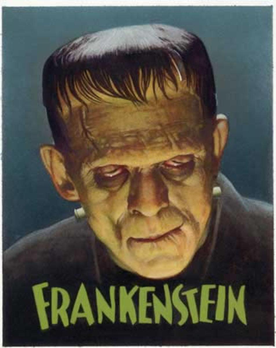 Frankenstein monster, the child of technology