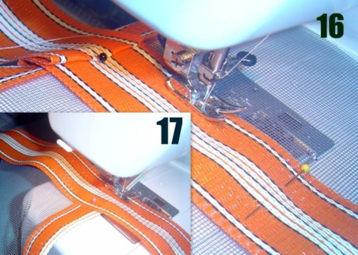 Sewing Straps Onto Mesh Beach Bag