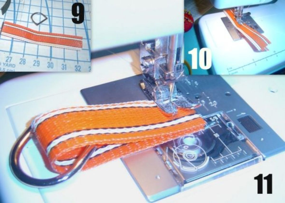 Sew Inner Tab for Mesh Beach Tote Bag