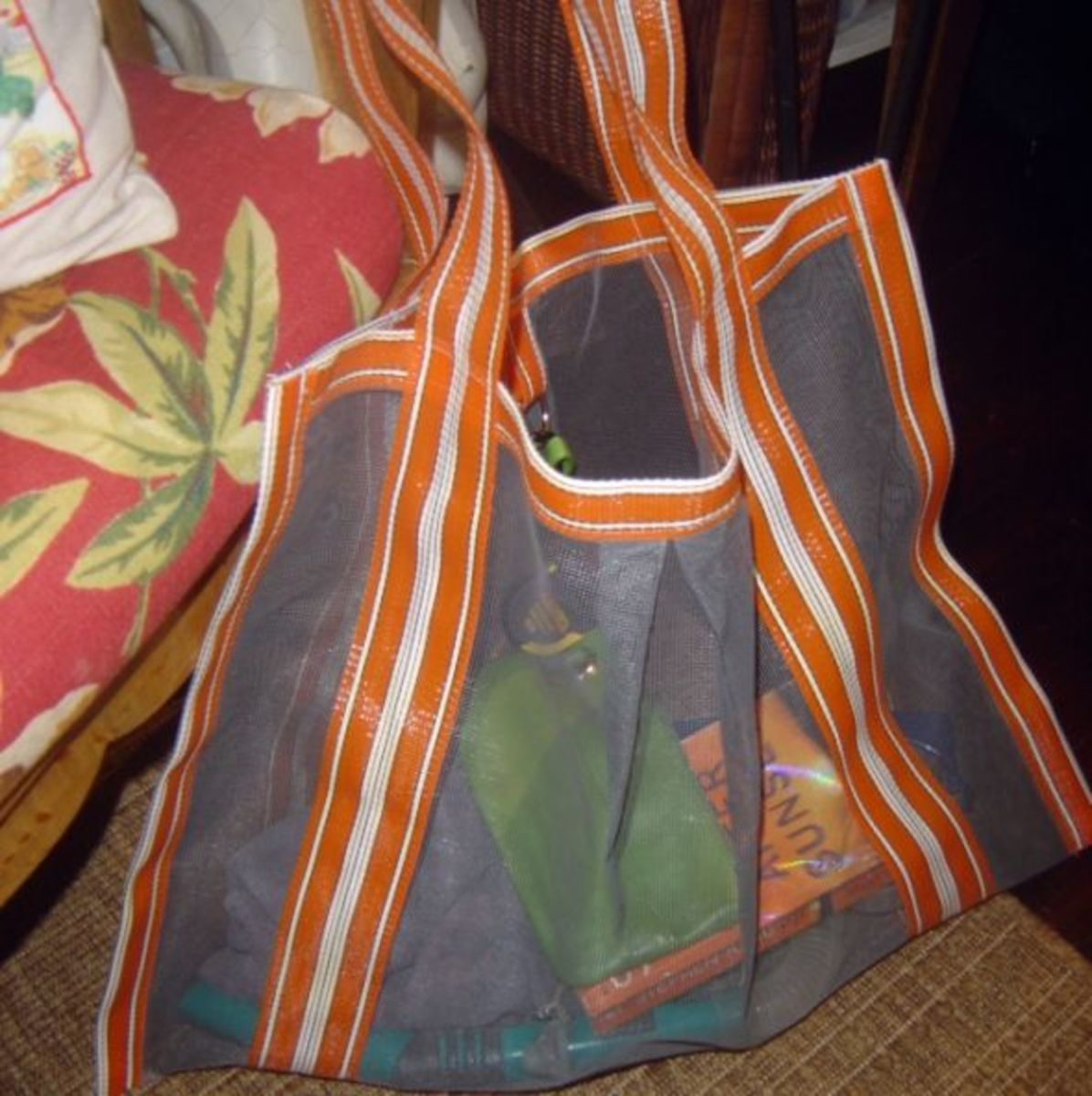 Easy Sew Project - Mesh Beach Tote Bag