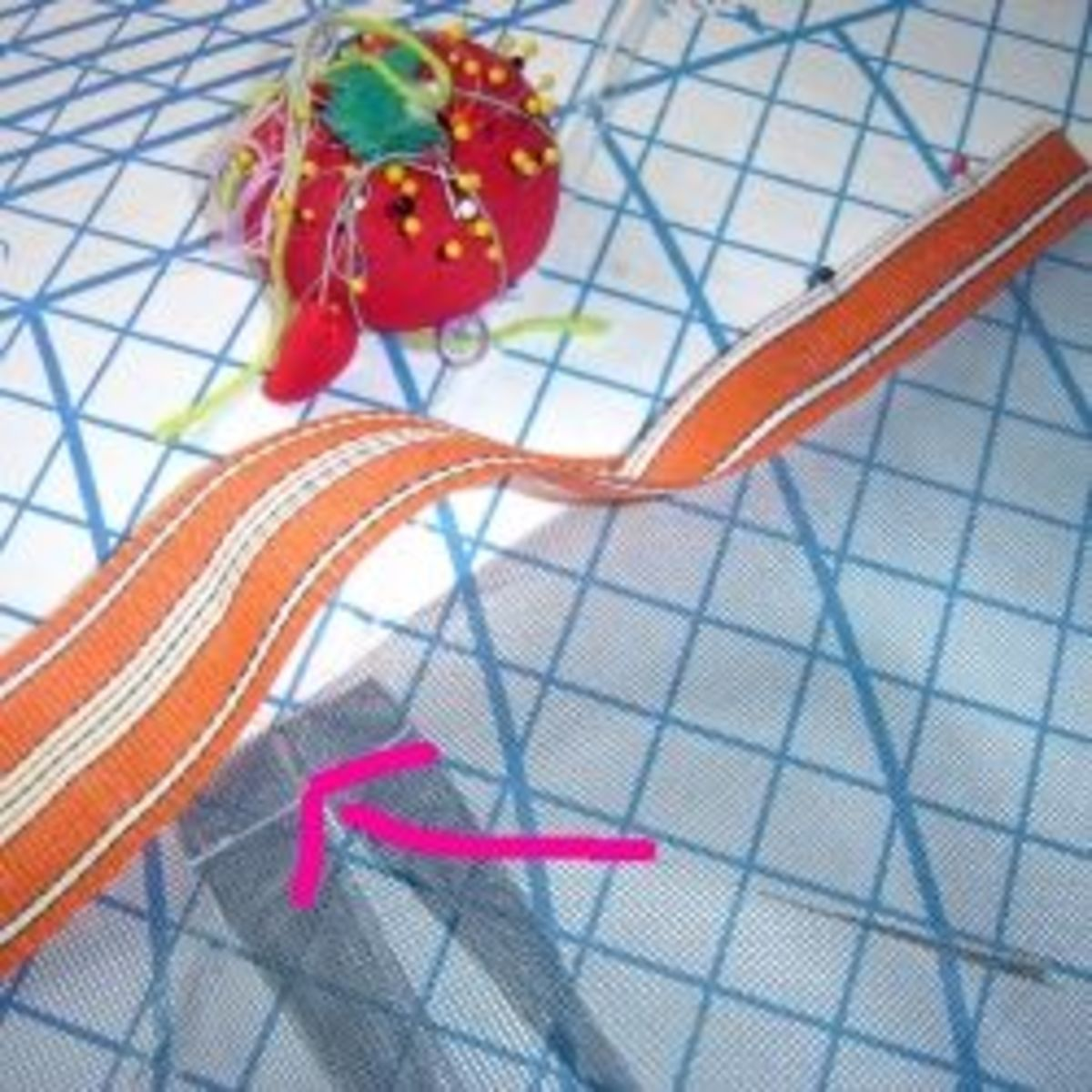 Where to Sew D Ring Tab for Mesh Beach Tote Bag