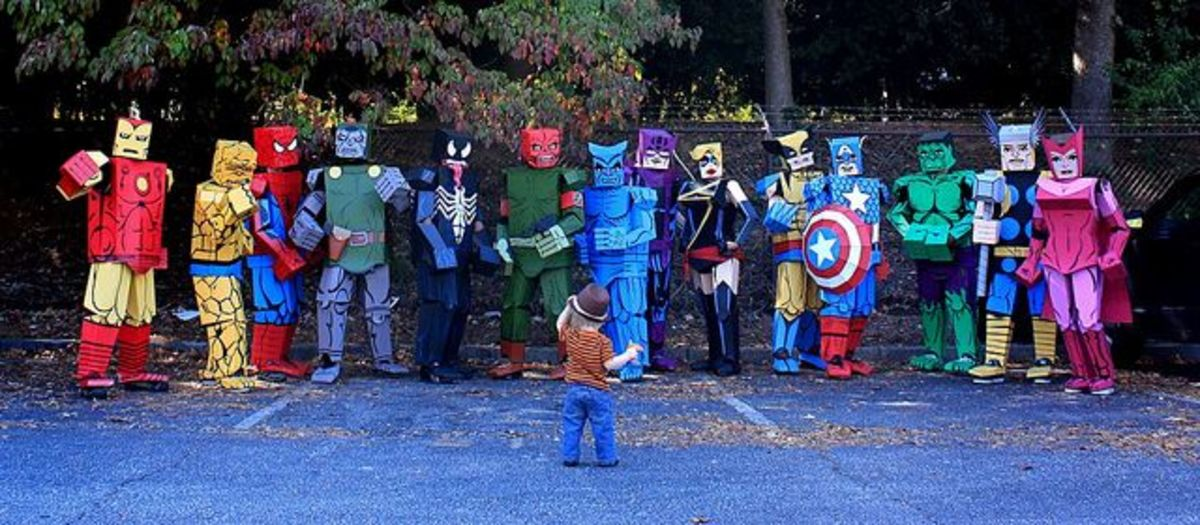 Homemade Halloween Costumes Made With Cardboard Boxes