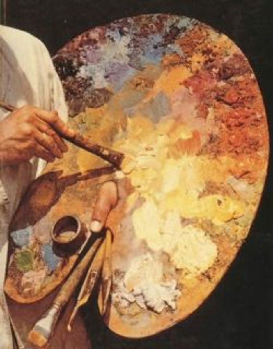 An Oil Painter's Palette Can Be Made From Cardboard. This picture is from Wikipedia and is in the public domain.