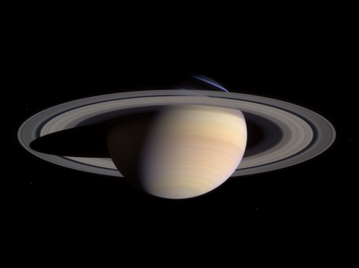 Perhaps the most beautiful planet in our solar system - Saturn. The picture was taken by Cassini on approach in 2004