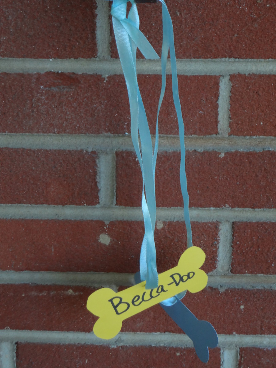 Make doggie name tags for the kids.