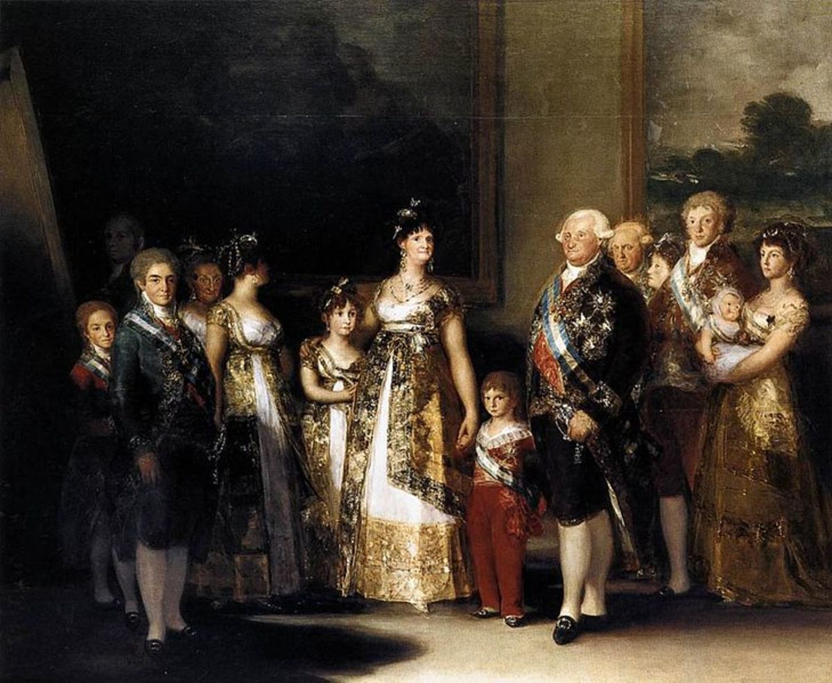 Charles IV of Spain and His Family  1800-01 by Francisco Goya