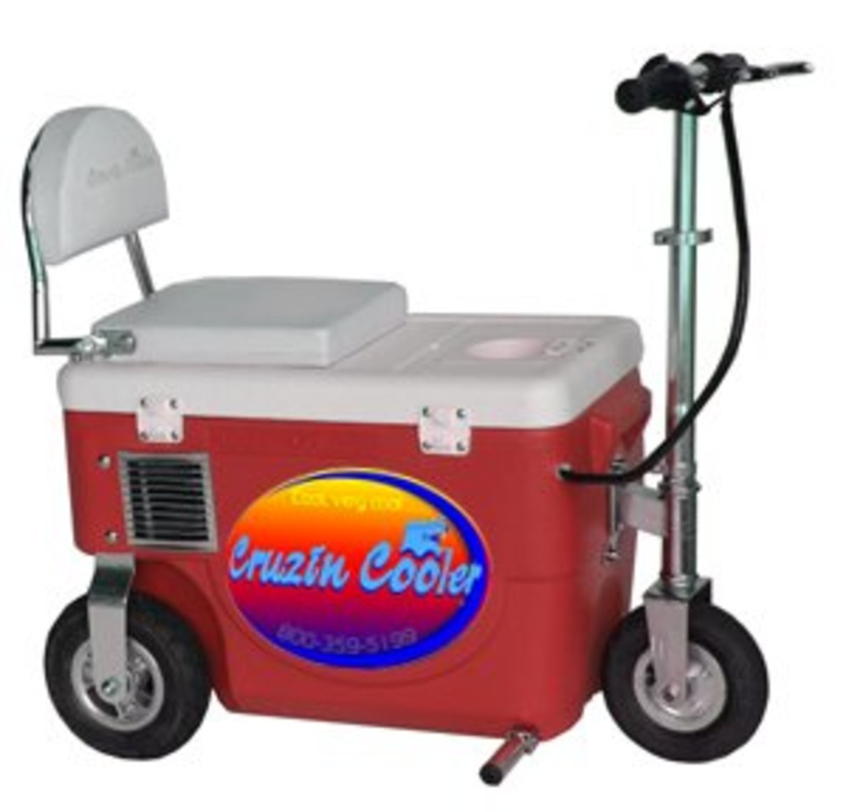 Cruzin Coolers or Cooler Scooters - What a way to get around!