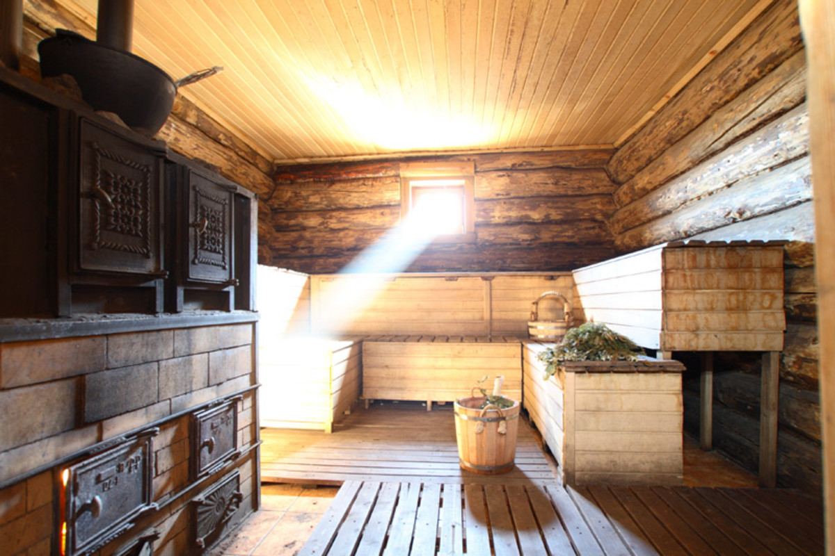 This is what a traditional Russian sauna looks like