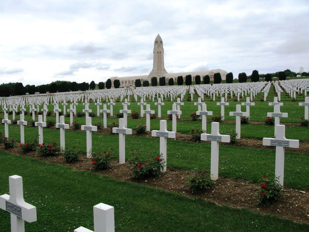 Memorial cemetery at Douaumont
