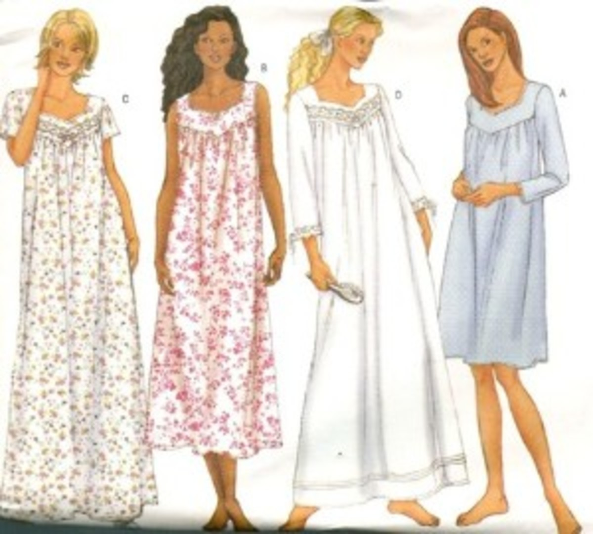 How To Sew Women Nightgown With Yoke