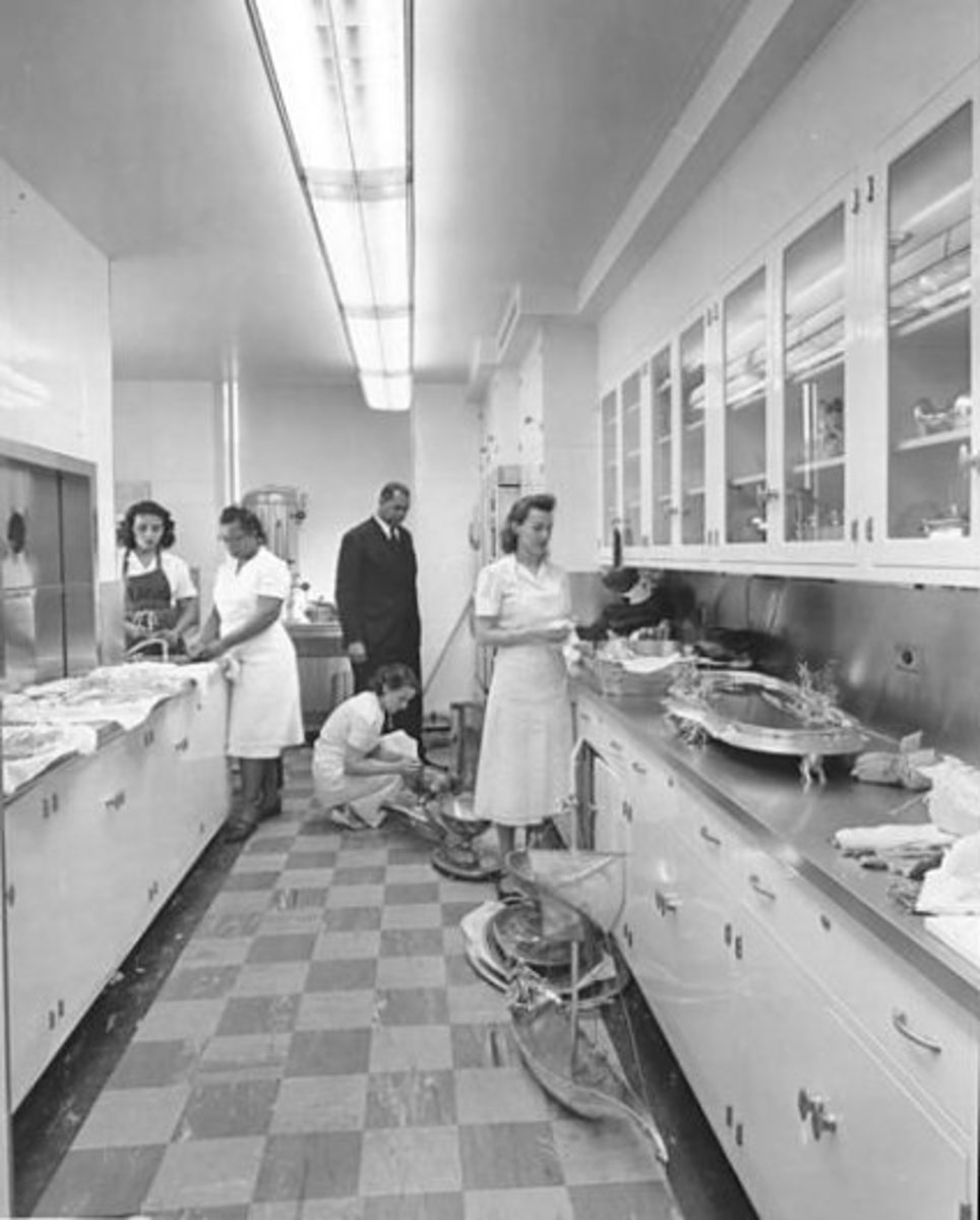 First Floor Butler's Pantry in 1952, renovations just completed.
