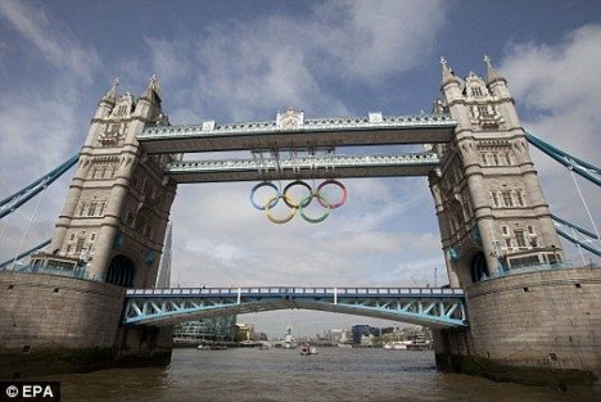 London Bridge Olympic Rings 2012