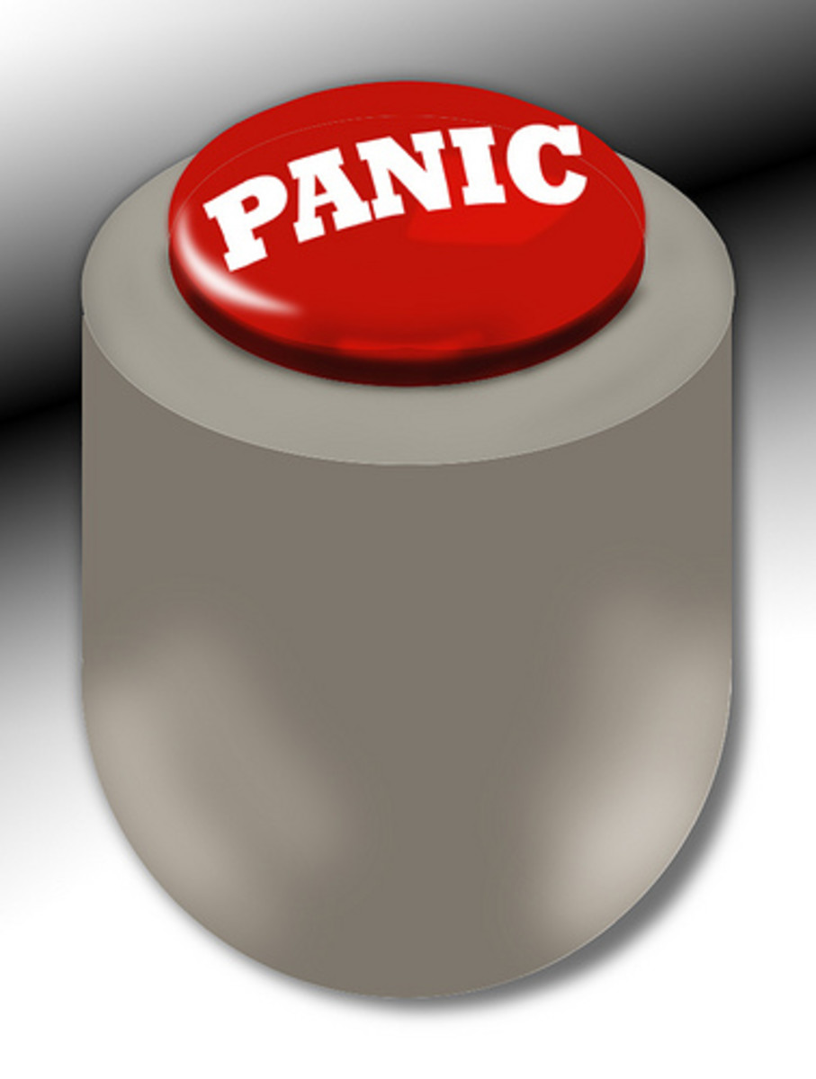 YOU are pressing the mental panic button.