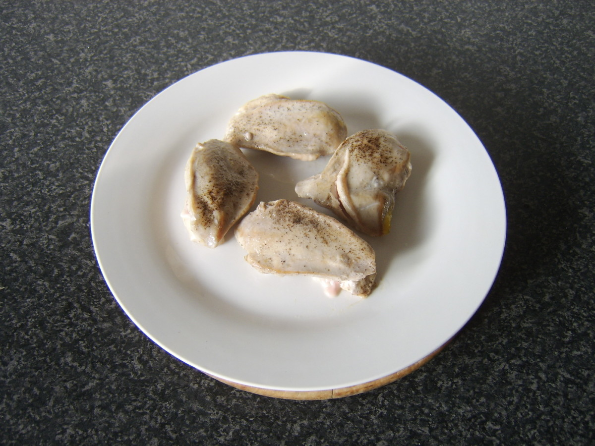 Partridge is removed from pan to heated plate
