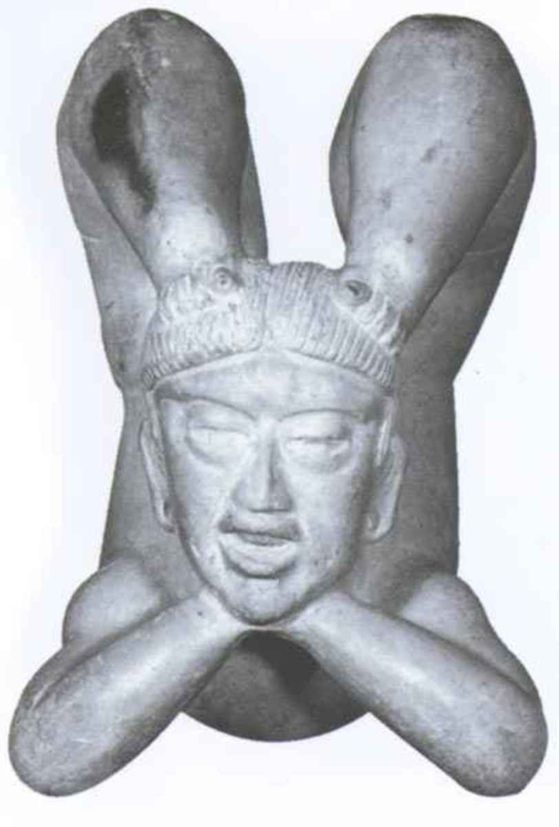 Olmec figurines depicting hyperflexible entertainers.