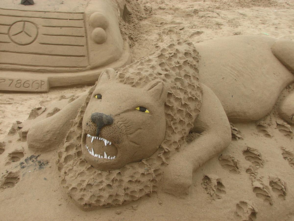 An impressive sand sculpture.