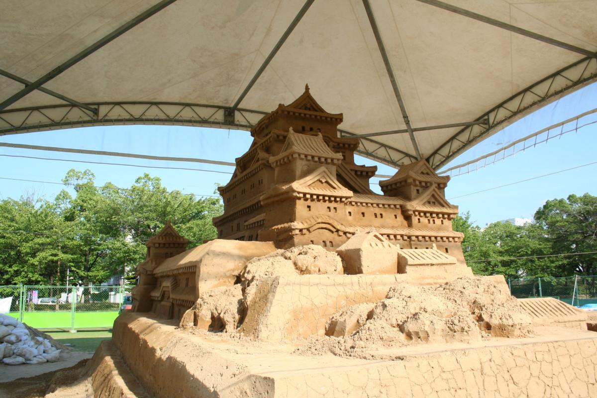 Sandcastle of Himeji castle
