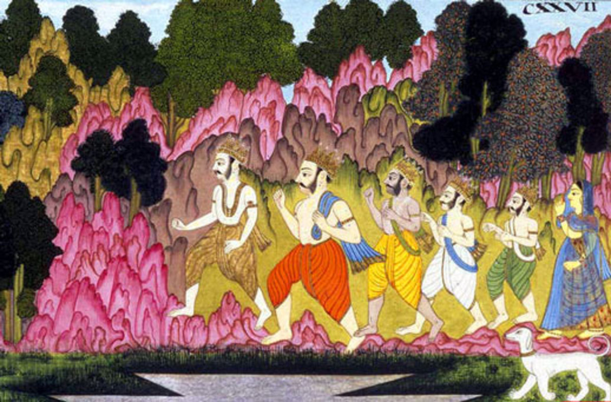The Pandava brothers marched away to the Himalayas after ruling the kingdom for years with Lord Krishna by their side.