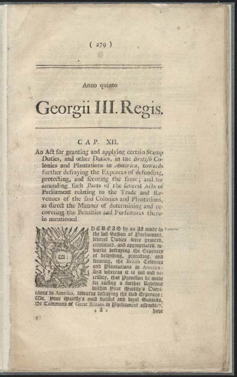 Copy of the Stamp Act printed by Mark Baskett, 1766.