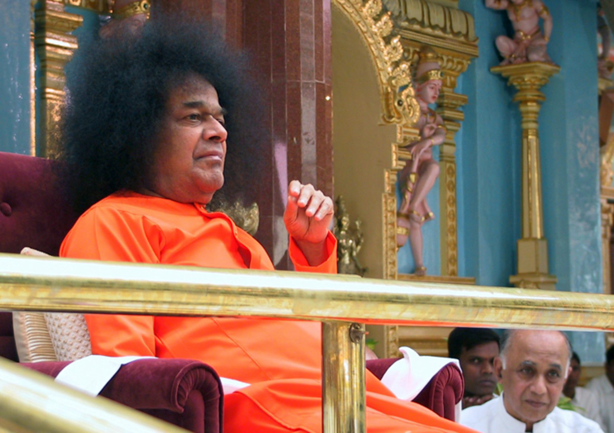 It was Swami's love that He enjoyed the programme. The actual impact can be seen on the other faces in the picture!