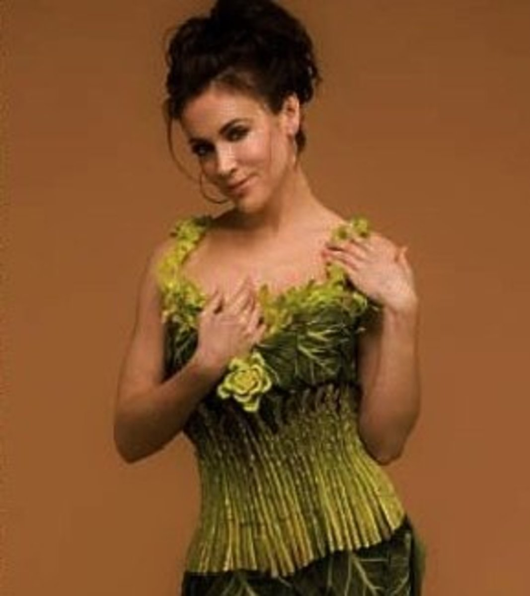 Alyssa Milano in Olive Green