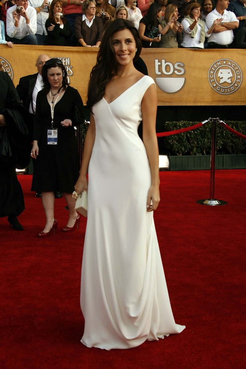 Jamie Lynn Sigler in a Long White Dress