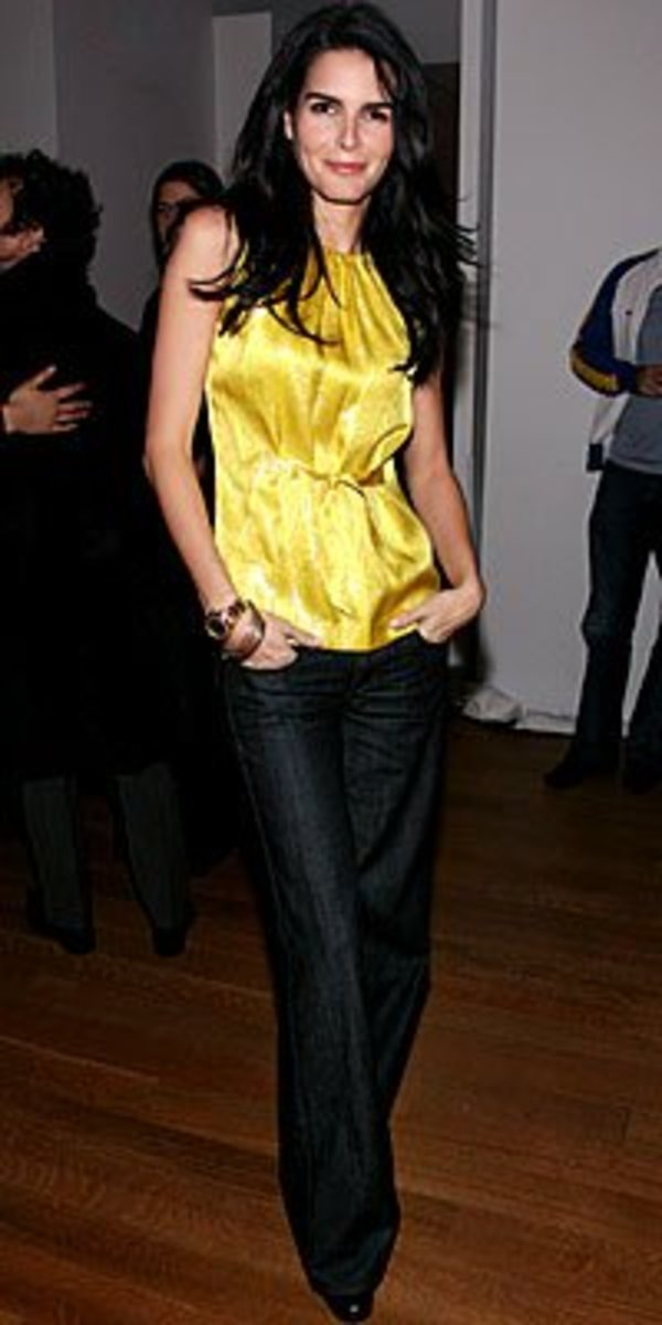 Angie Harmon in Yellow
