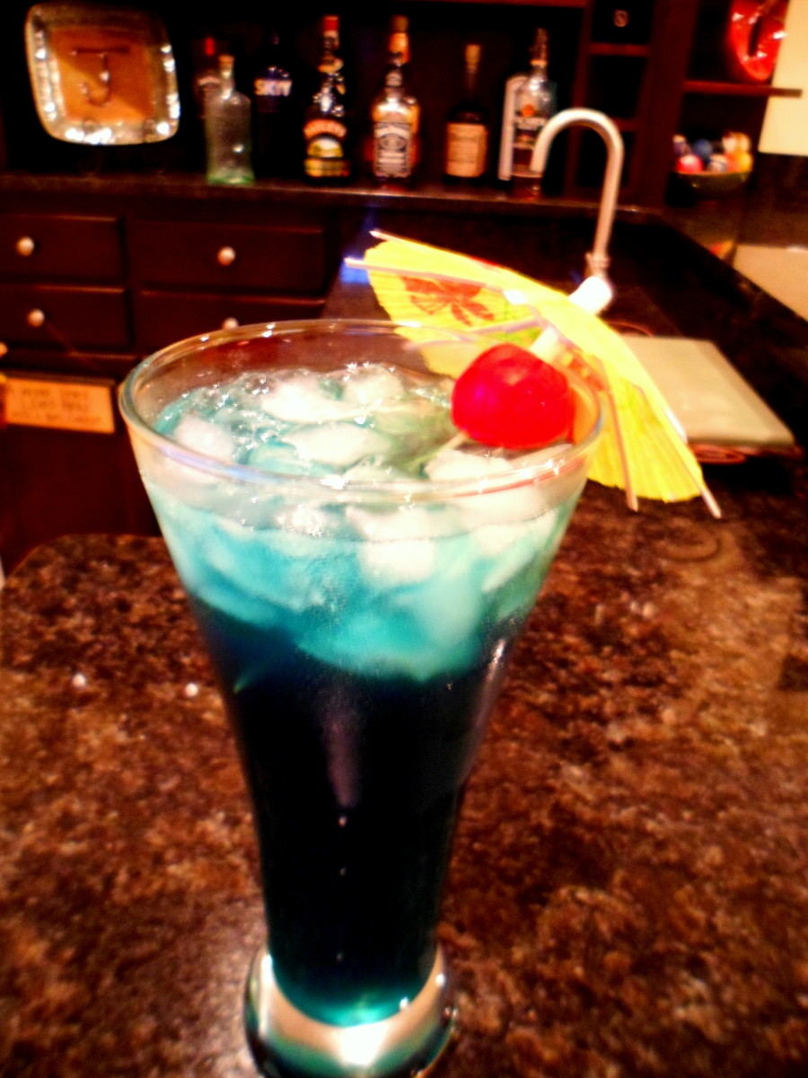 A Blue Hawaiian is a hit at any party.