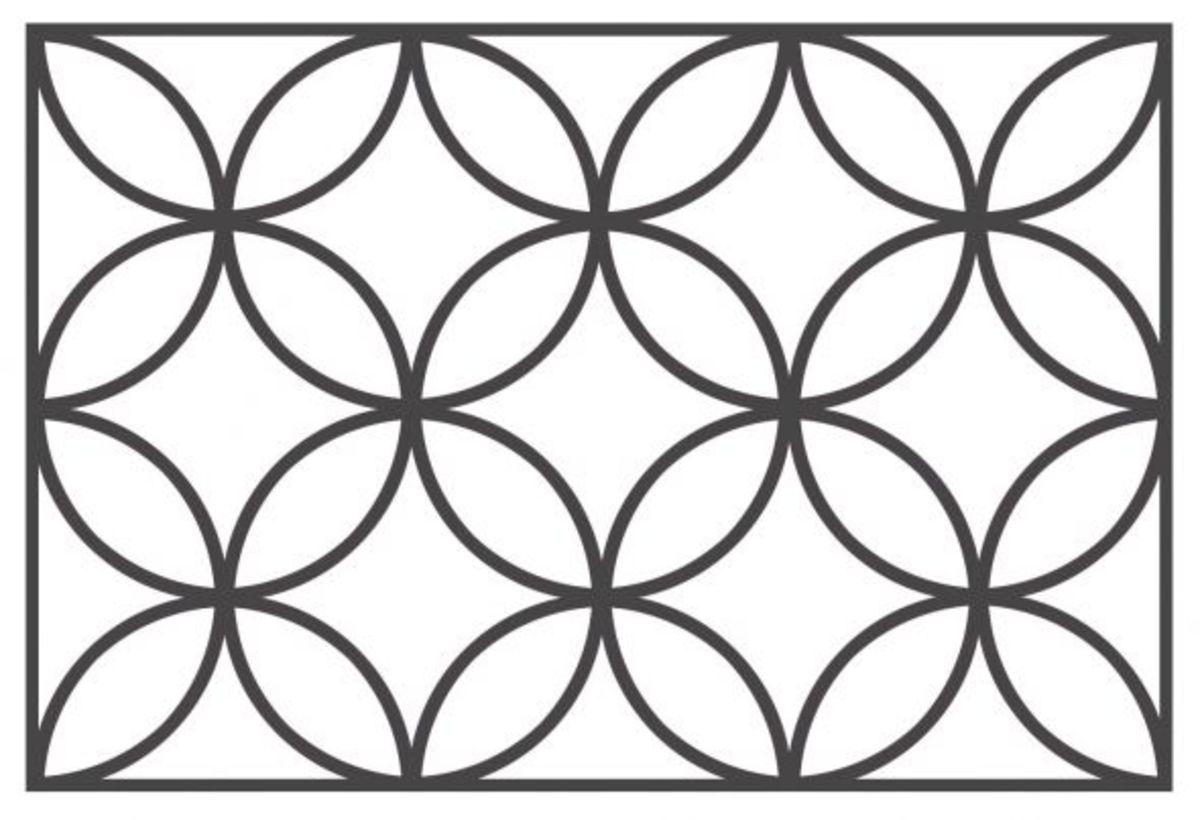 batik kawung design
