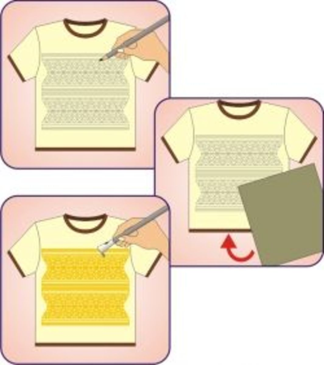 diy batik applying wax