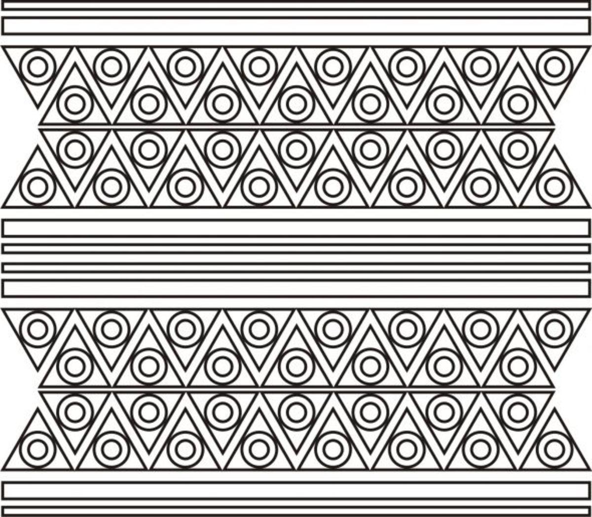 batik geometric pattern