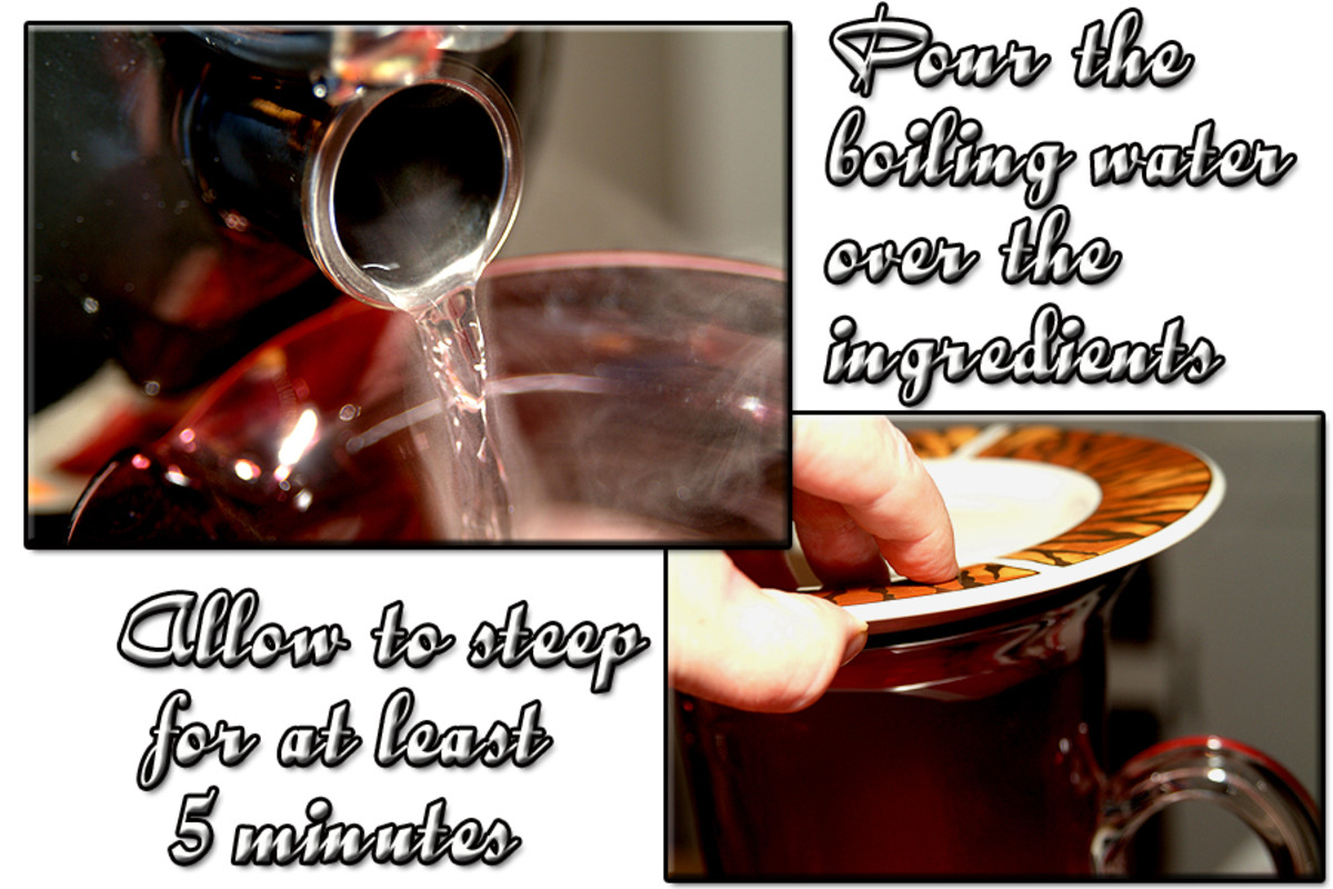 Pour the boiling hot water over the ingredients inside the pitcher. Cover and steep for 5 minutes.