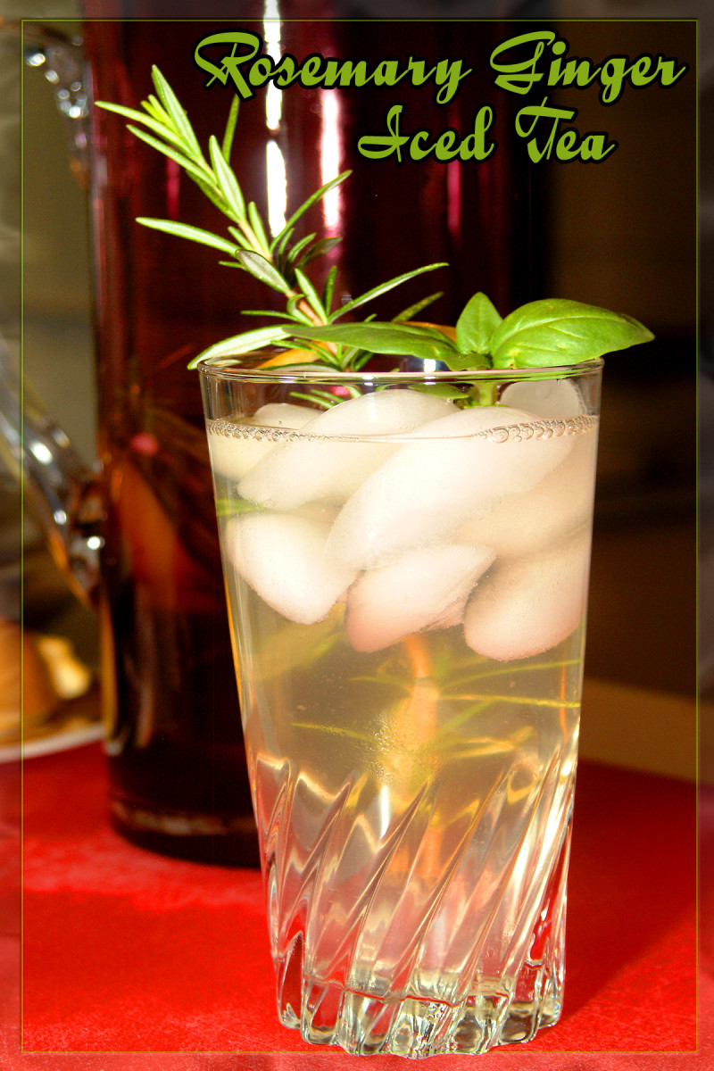 Fresh Rosemary Ginger Iced Tea Recipe