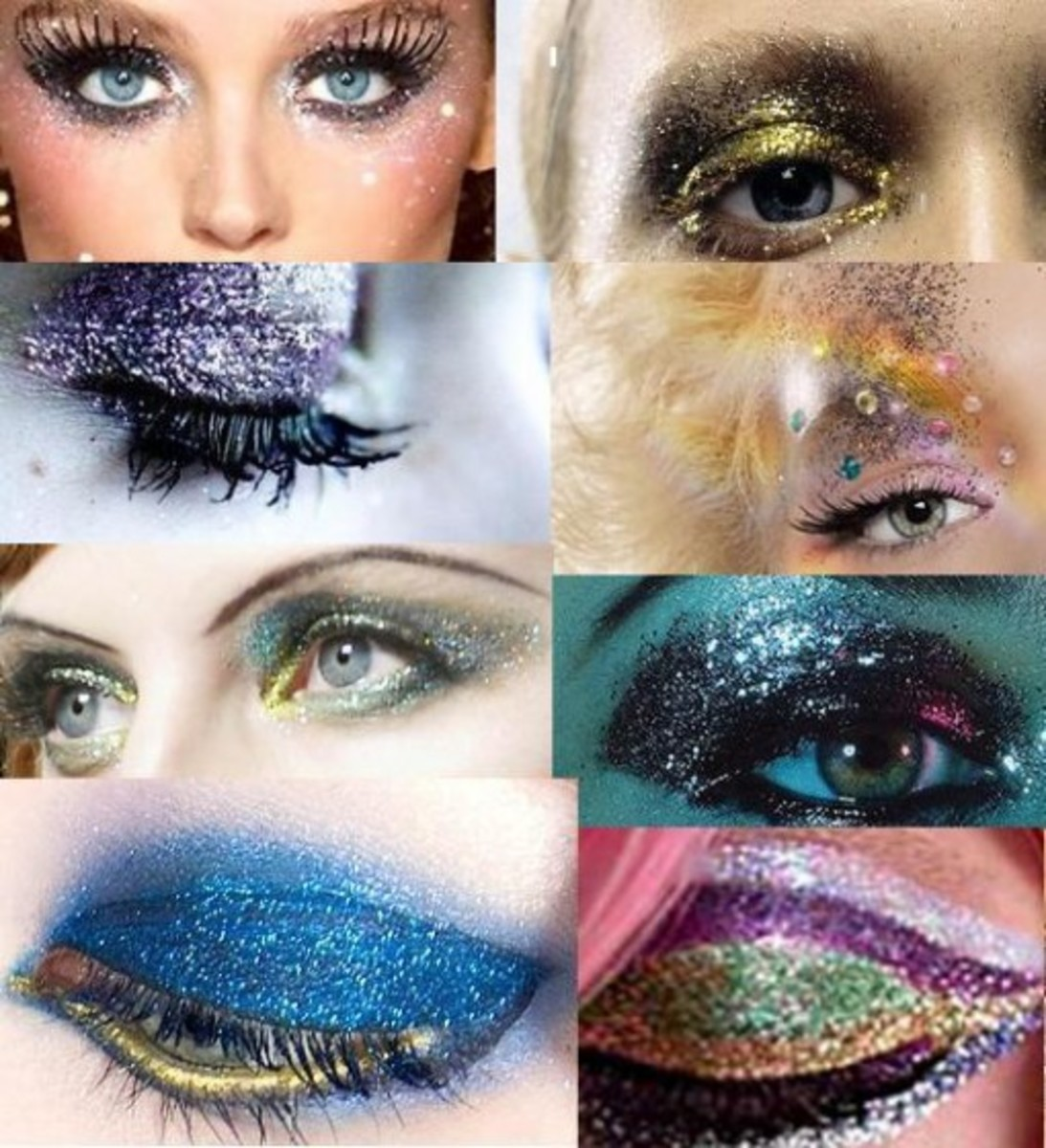 Glitter Makeup Looks, Tips and Tutorials