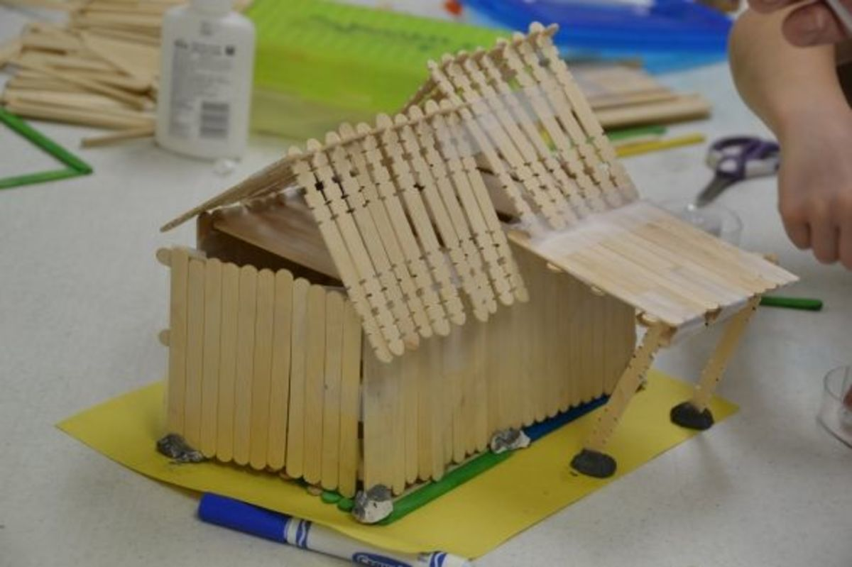 Amish Barn Raising Activity -  Photo taken by Michelle Harrison, who participates in our class