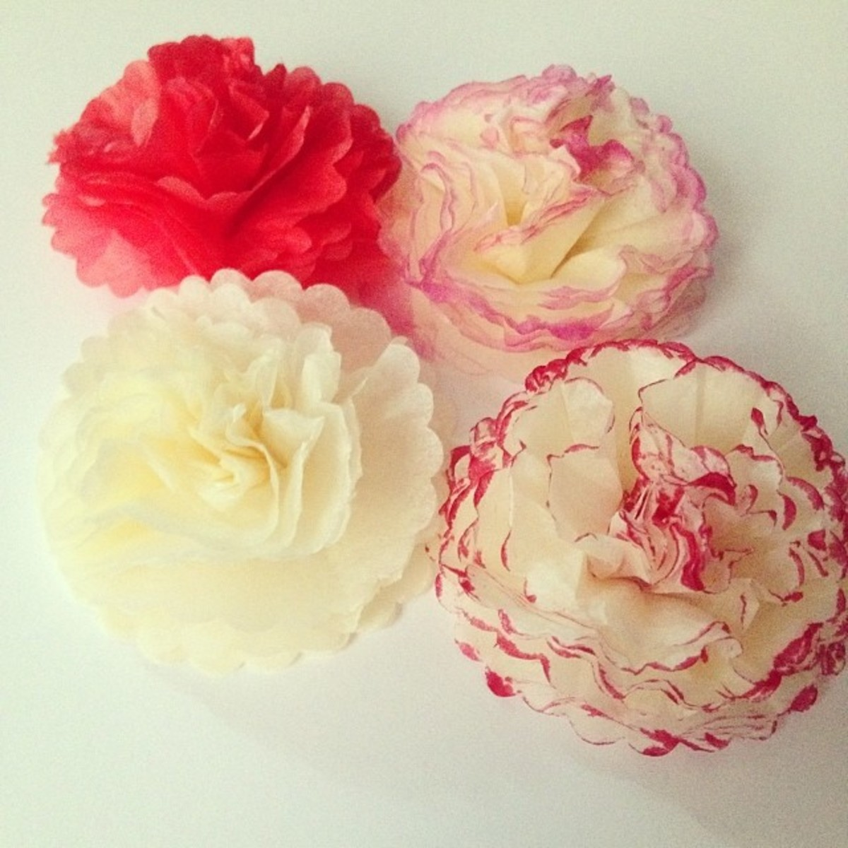 How To Make Mini Tissue Paper Pom Poms And Flowers