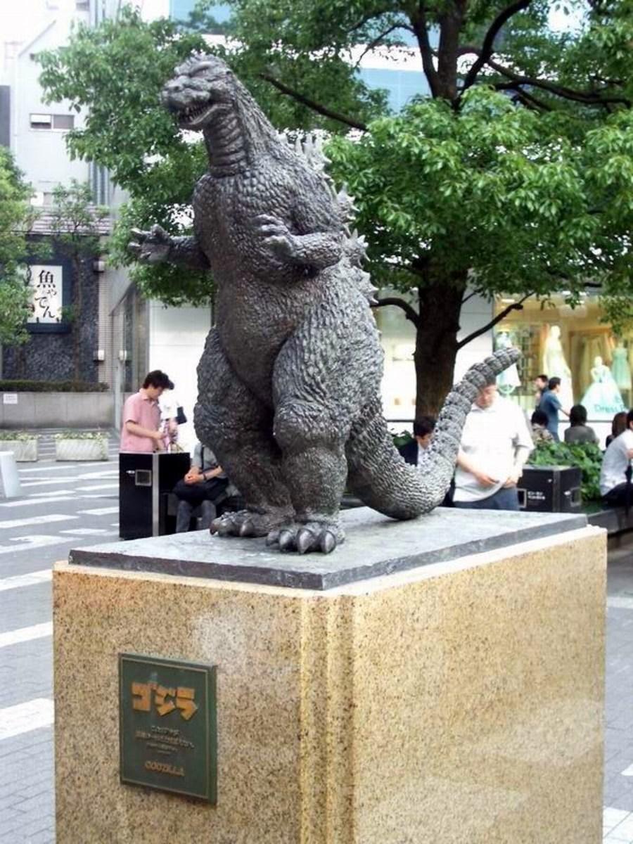 Godzilla statue in Hibiya, Tokyo, erected in 1995.