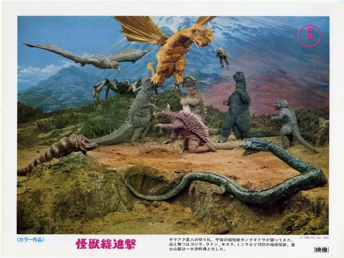Destroy All Monsters (1968) lobby card