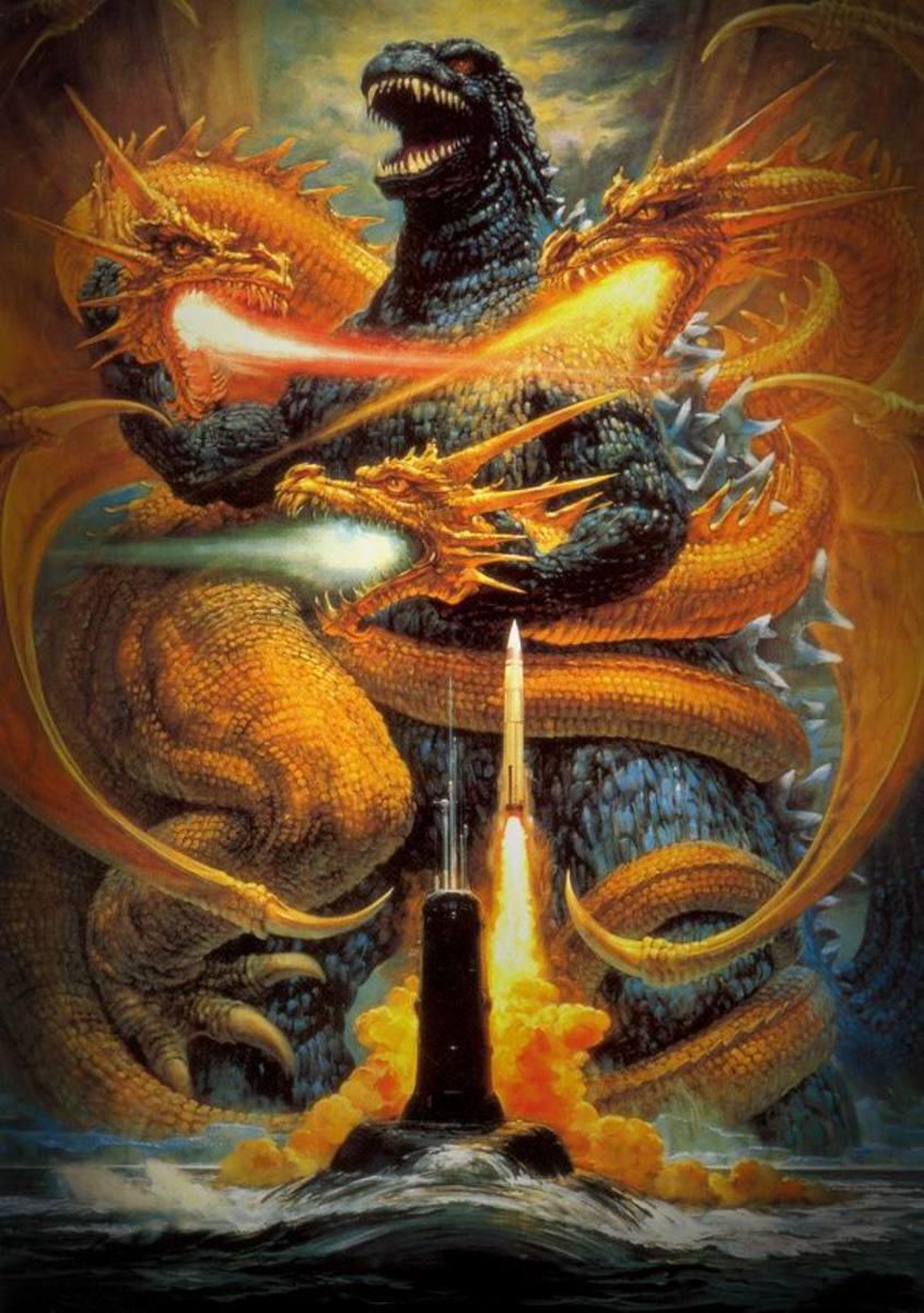 Godzilla vs King Ghidorah (1991) Japanese poster A