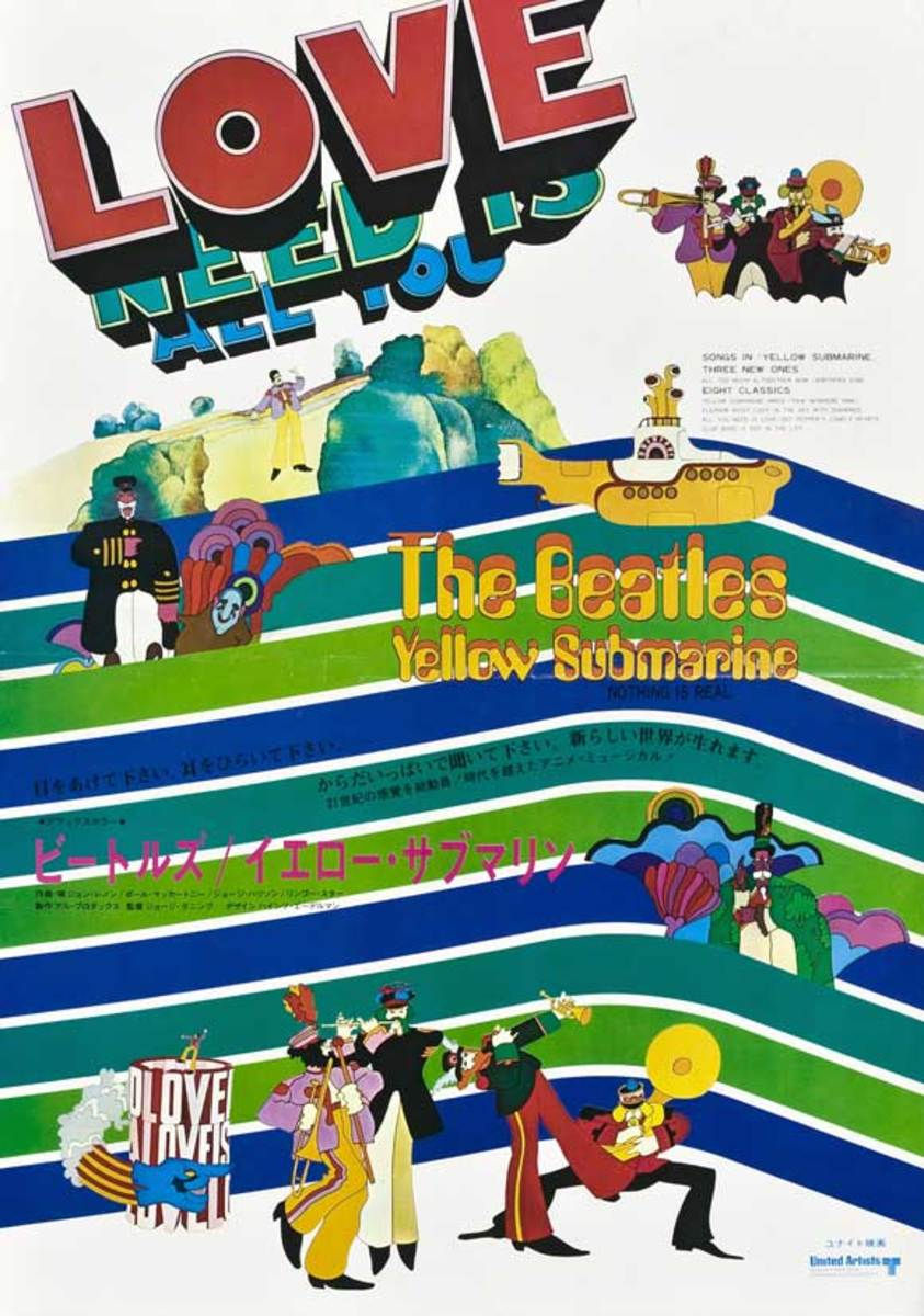 Yellow Submarine (1968) Japanese poster
