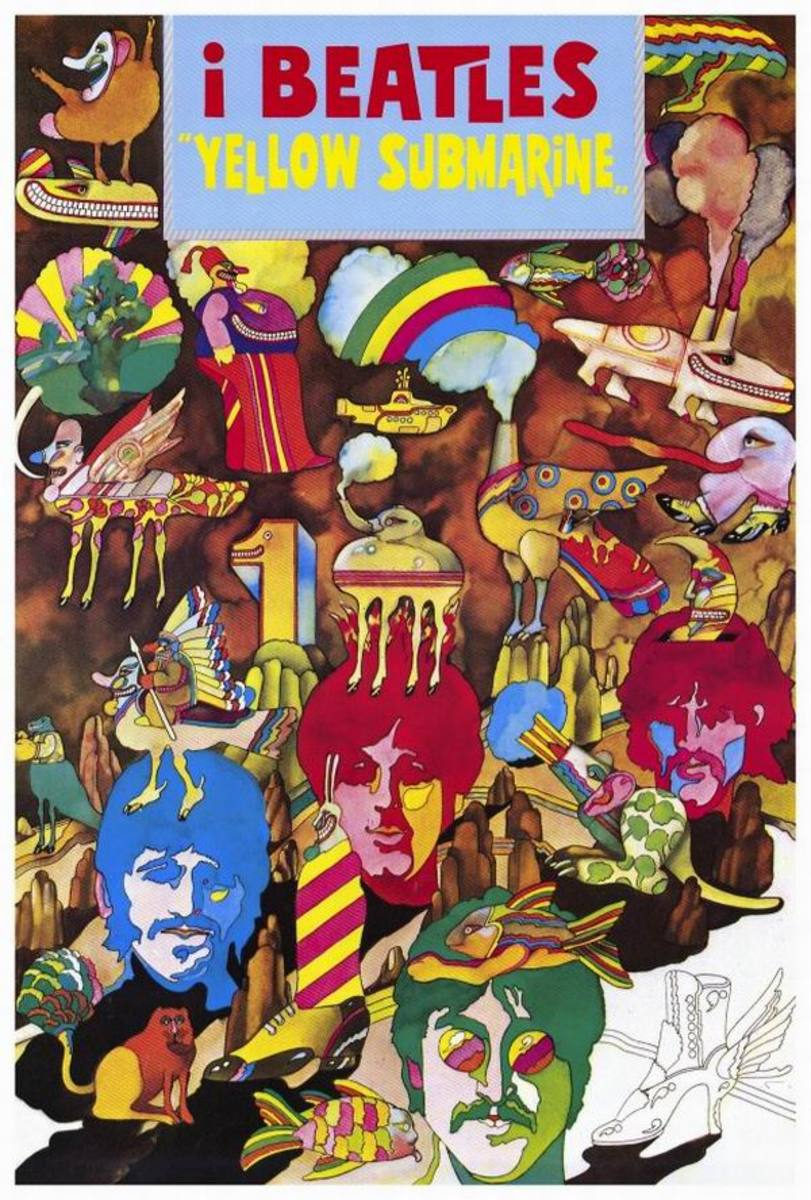 Yellow Submarine (1968) Italian poster