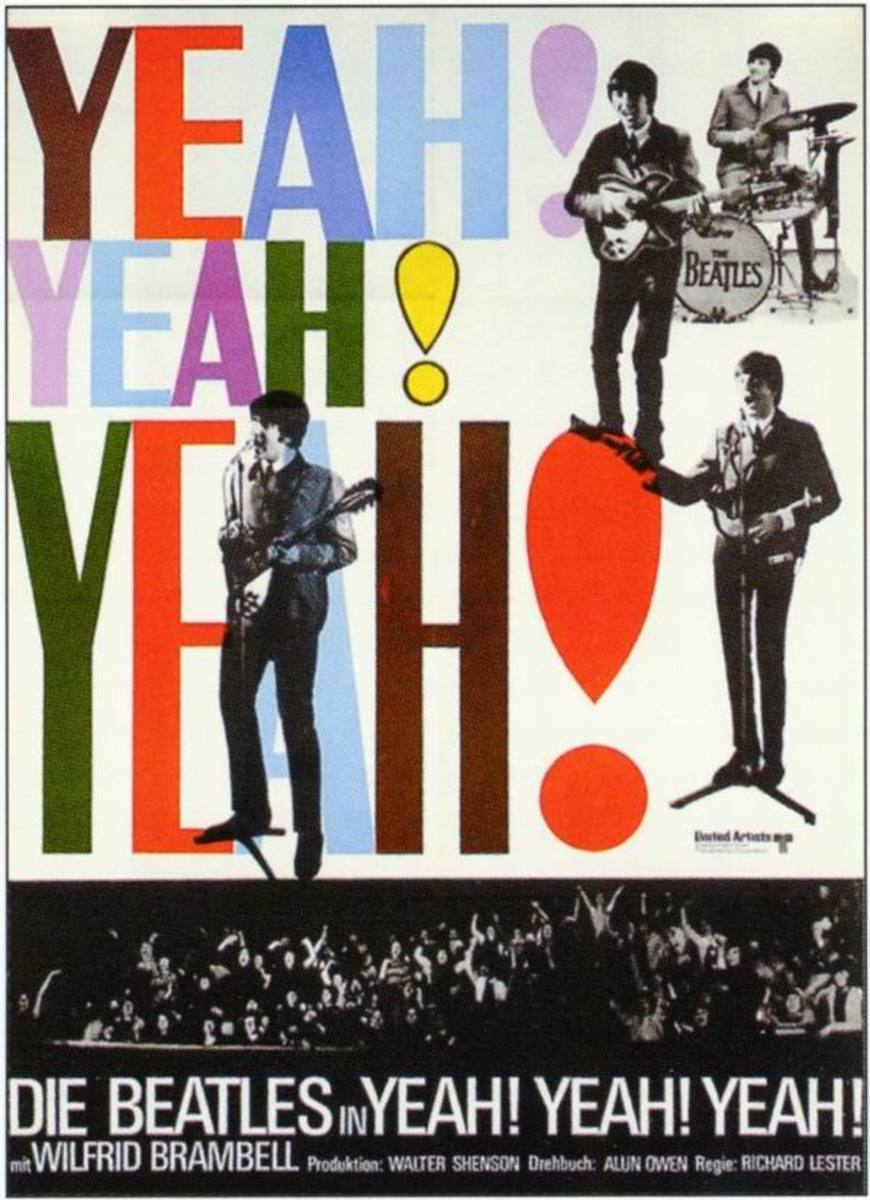 A Hard Day's Night (1964) German poster